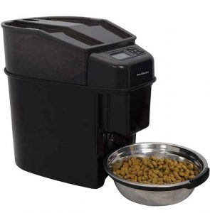 Distributeur Automatique de Croquettes pour Chats 5.6L Healthy Pet Simply Feed- Programmable jusqu'à 12 Repas/Jour avec Ecran LCD,