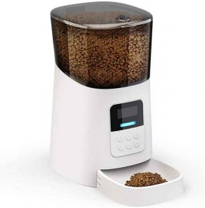 NICREW Distributeur Croquettes Automatique pour Chats et Chiens, Distributeur de Nourriture avec Enregistrement Vocal et Écran LCD, 6 Repas Max/Jour...